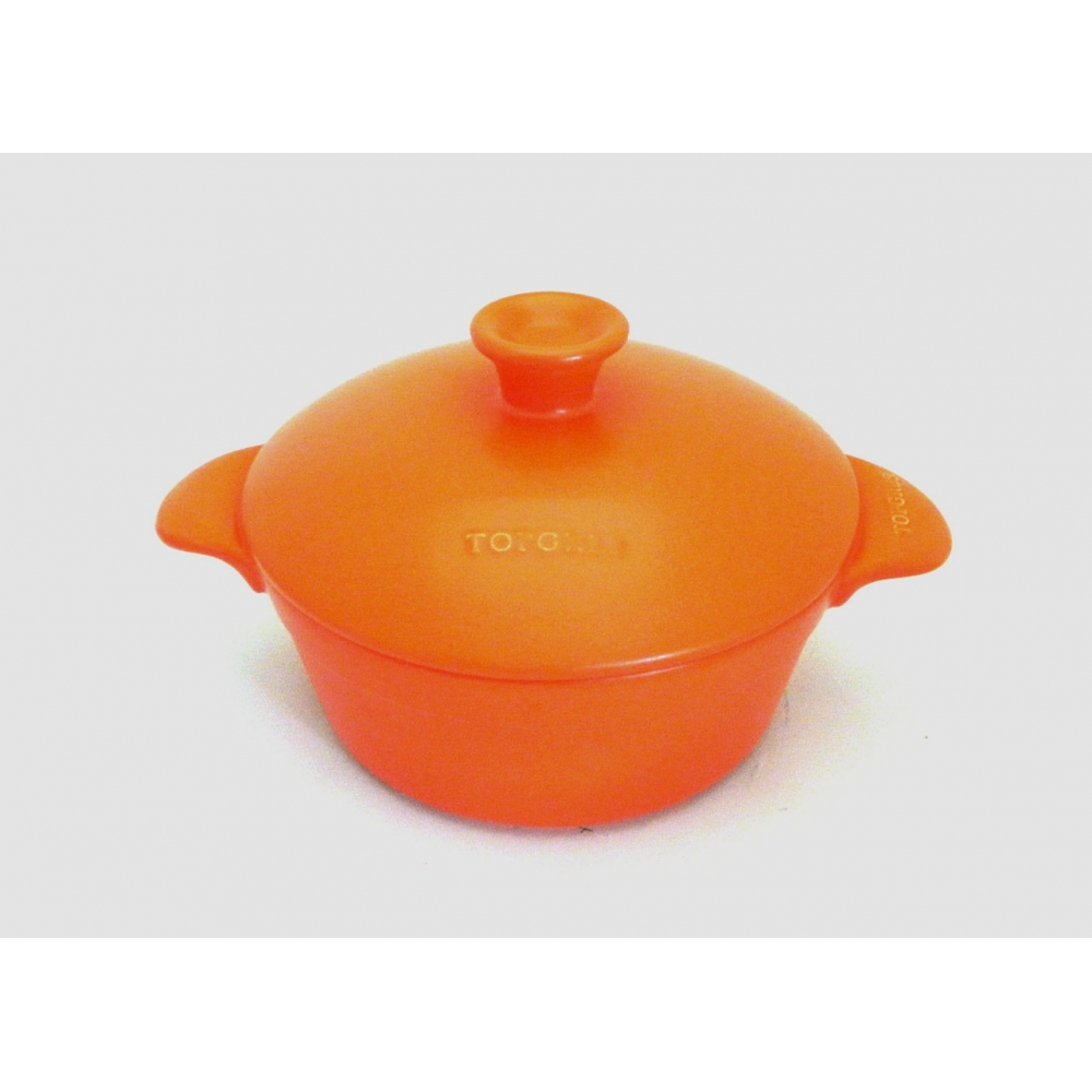 CASSEROLE TWO HANDLES 23CM - 200CL - INDUCTION ORANGE