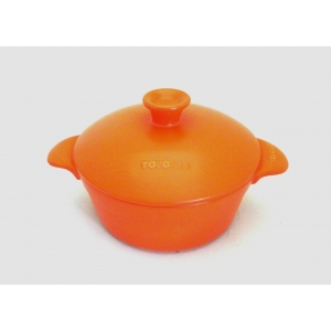 CASSEROLE TWO HANDLES 27CM - 350CL ORANGE