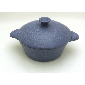 CASSEROLE TWO HANDLES 27CM - 350CL INDUCTION BLUE STONE
