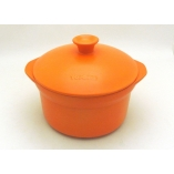 POT TWO HANDLES 25CM - 400CL INDUCTION ORANGE