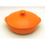 PAN TWO HANDLES 25CM - 400CL ORANGE