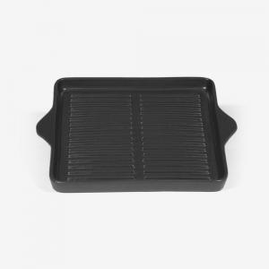 Piastra grill ad induzione quadrata, dim. 32X27cm