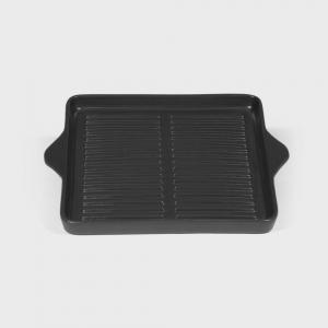 Piastra grill quadrata antracite, dim. 32X27cm