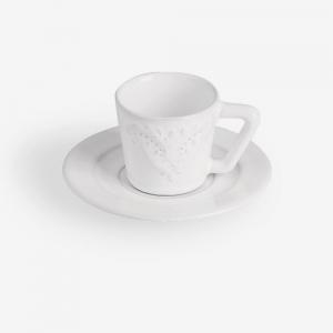 Tazzina da caffè con piatto - Set 6 pz