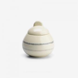 Zuccheriera in ceramica gres avorio