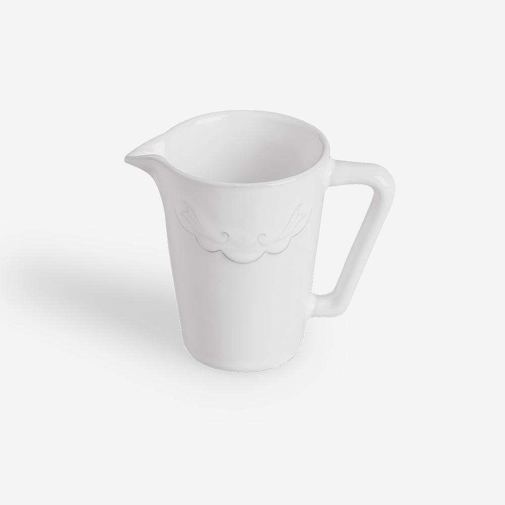 Lattiera in ceramica gres bianca
