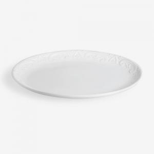 Piatto da portata ovale bianco diam. 44cm
