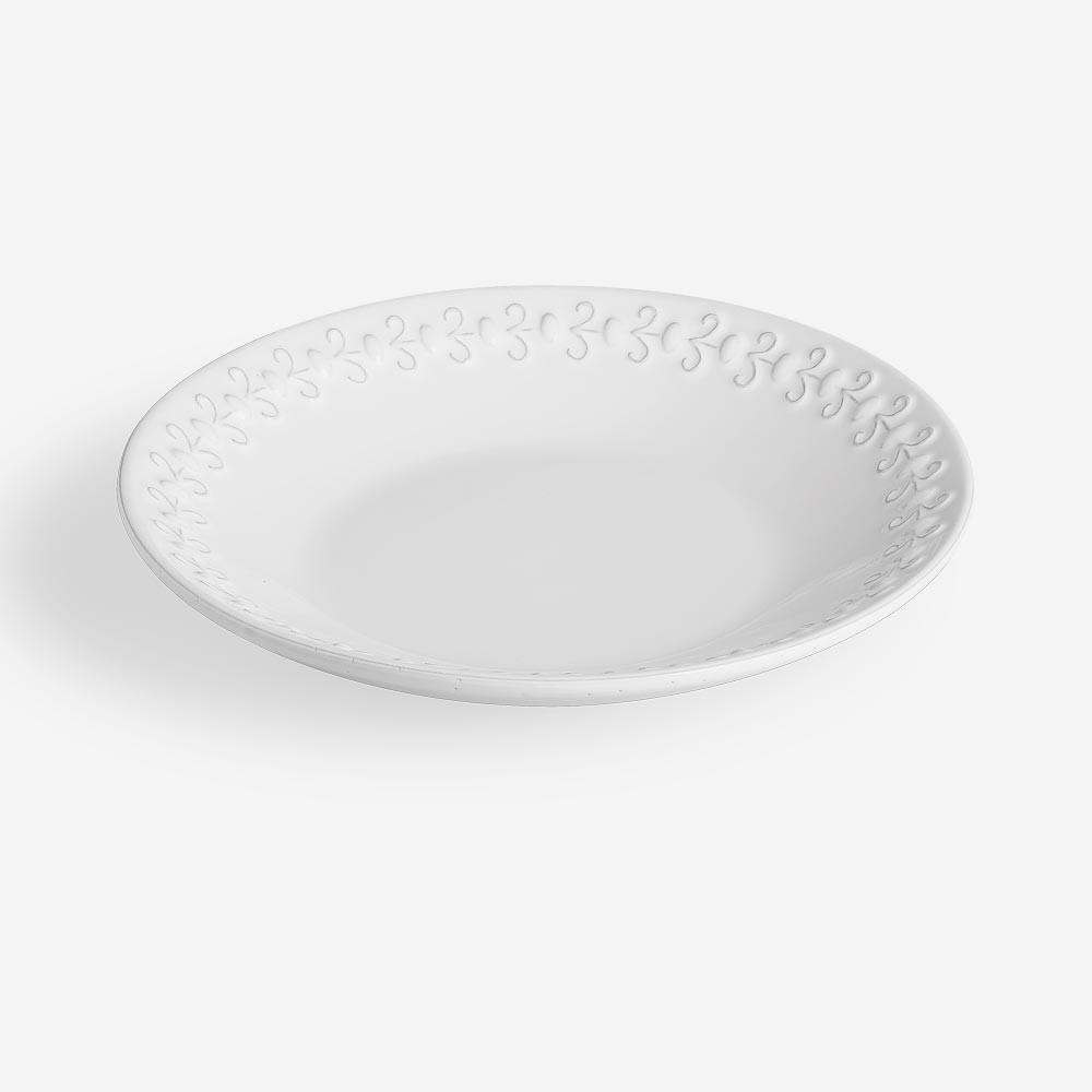 Piatto fondo bianco diam. 24cm - Set 6 pz