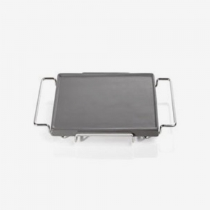 Square grill plate for serving anthracite