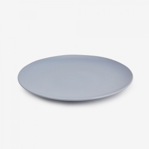 Piatto piano ceramica gres grigio - Set 6 pz