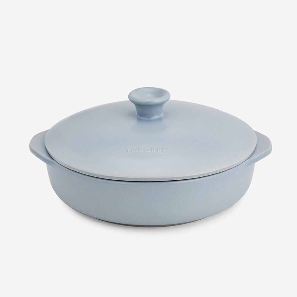 Tegame 2 manici in ceramica gres