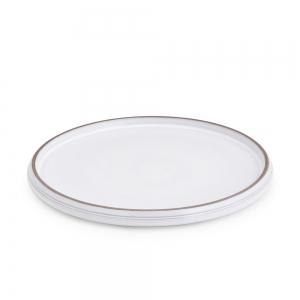 Set 6 dinner plate white diam. 28 cm
