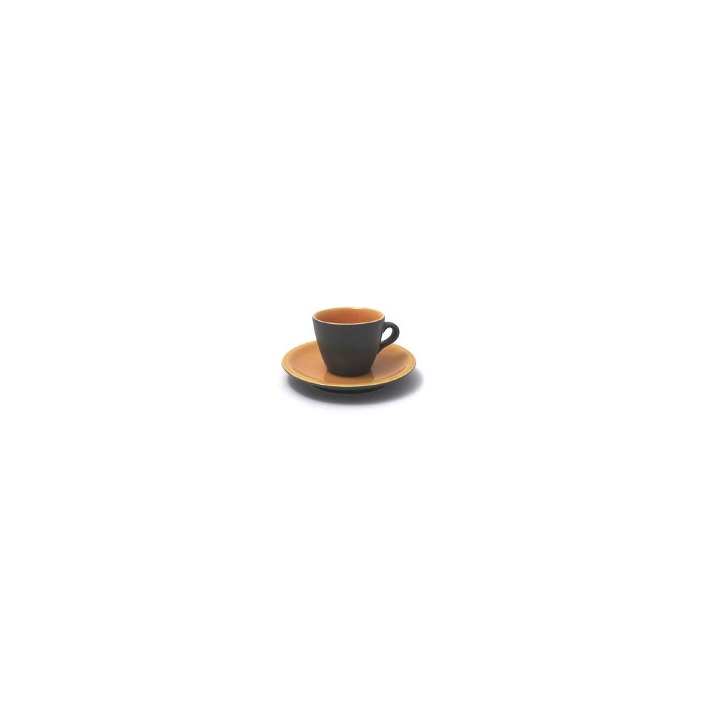 SET 6 TAZZINE CAFFE' CON PIATTO URBAN ARANCIO