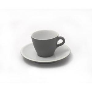 SET 6 TAZZINE CAFFE' CON PIATTO URBAN BIANCO